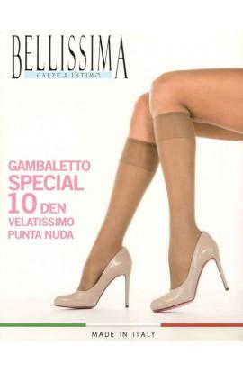 3 Gambaletti Special 10 punta nuda elastico comfort Bellissima