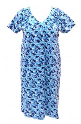 Abito mezza manica o vestaglia estiva da esterno 100% cotone Aertre 89-35