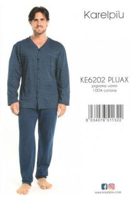 Pigiama calibrato aperto per uomo XXXXXL in cotone 100% estivo Karel KE6202