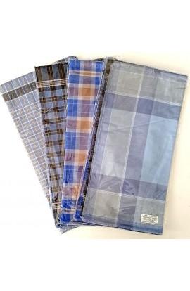 12 fazzoletti 100% cotone per uomo scozzese colori scuri Elba