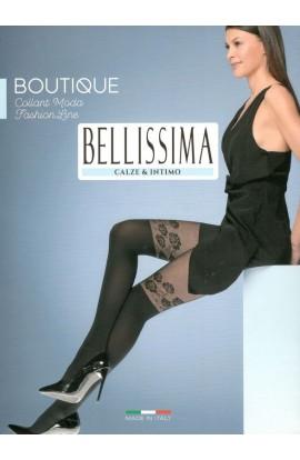 Collant moda microfibra con banda fiorata Bellissima Boutique