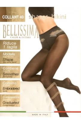 Collant snellente sgambato elegantissimo contenitivo 40 den Body Line Shaper Bikini