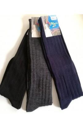 3 calzettoni scarponi caldi e morbidi pesanti isolanti lana 70% Alpino