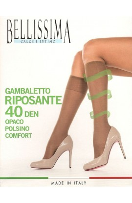 Gambaletto RIPOSANTE 40 den opaco con elastico comfort Bellissima