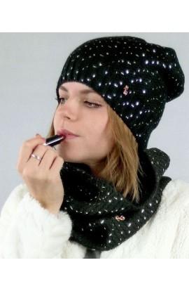Cappello punti di luce maglia liscia morbida Nazareno Gabrielli N105C