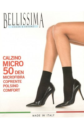 Calzino coprente 50 den morbido con elastico comfort Micro 50 Bellissima