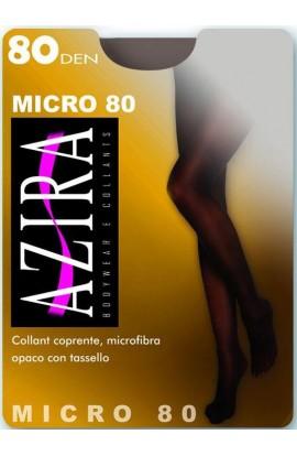 Collant microfibra 80 den coprente opaco con tassello Azira Micro80