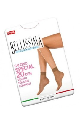 Offerta 3 Calzini velati elasticizzati punta nuda Bellissima Special 20