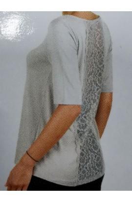 Maglia manica al gomito con pizzo schiena viscosa Liabel 2853 3026