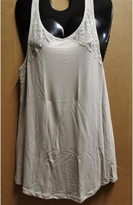 Canottiera elegante sotto giacca spalla larga viscosa con pizzo Liabel 2853 316