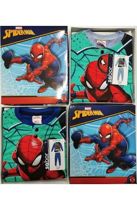 Pigiama SPIDERMAN bimbo in 100% cotone primavera estate 5401