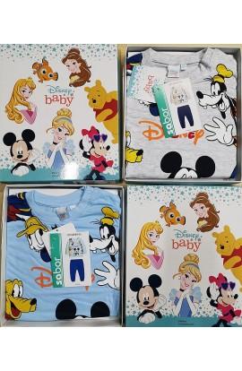 Pigiama neonato 12/24 mesi cotone primavera estate anallergenico Disney 8743