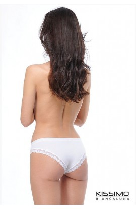 3 slip donna in cotone bordo pizzo elasticizzato Kissimo KS527T