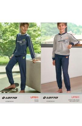 Pigiama ragazzo 10 anni 100% cotone estivo leggero Lotto LP7011