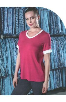 Maglia elegante con scollatura a V viscosa naturale Patty Fashion 20104/60