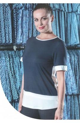 Maglia elegante con scollatura tonda viscosa naturale Patty Fashion 20132/60