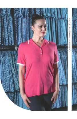 Maglia elegante polo con colletto viscosa naturale Patty Fashion A74/60