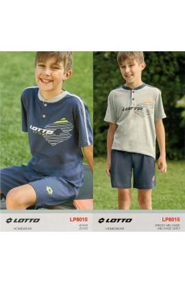 Pigiama corto per ragazzo 10 - 16 anni LOTTO cotone 100% LP8015