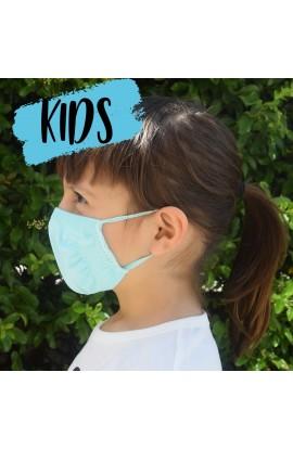 2 pezzi Mascherina bambini protettiva multiuso lavabile batteriostatico traspirante FAP emergenza COVID-19 elastico orecchie