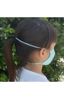 2 Mascherina bambini protettiva multiuso lavabile batteriostatico traspirante FAP emergenza COVID-19 elastico nuca