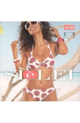 Bikini con ferretto coppa C slip annodato regolabile in altezza SièLei MD93