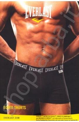 Boxer ragazzo Everlast Shorts cotone elasticizzato Bianco