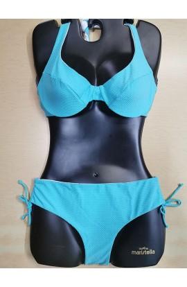 Bikini con ferretto coppa C slip alto con laccetto regolabile in altezza double faces SieLei DB53