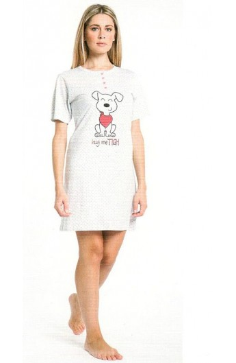 Camicia da notte per donna in manica corta Karel KE6132