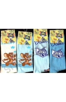Calza gamba lunga per neonato Tom & Jerry caldo cotone invernale