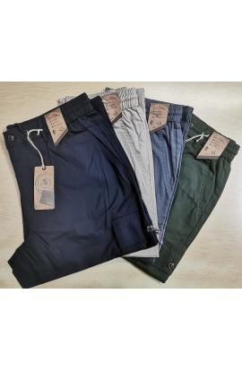 Pantalone uomo fresco e leggero con elastico 100% cotone popeline Sea Barrier Isola 2