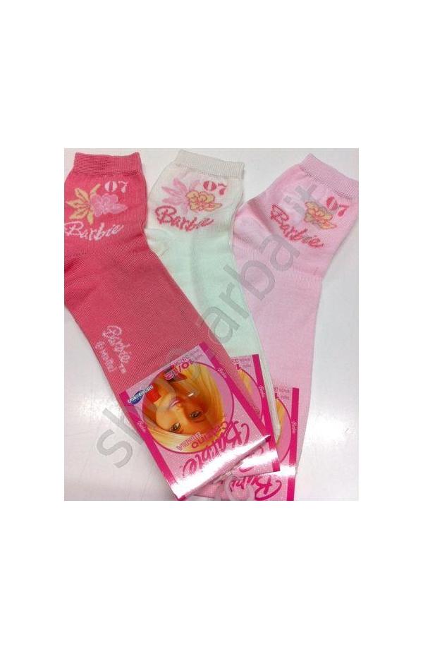 Calza corta Barbie tinta unita fiore cotone 140B