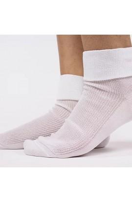 Calza sanitaria per donna cotone 100% con risvolto morbido senza elastico Simona