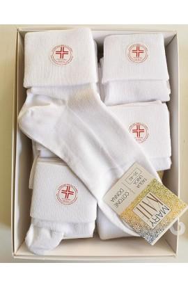 Calza sanitaria caldo cotone per donna con risvolto morbido senza elastico Nella