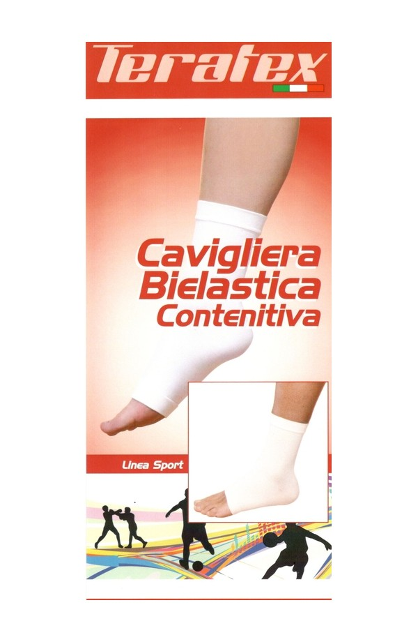 Cavigliera elastica contenitiva in cotone UNISEX per distorsioni di lieve entità Teratex