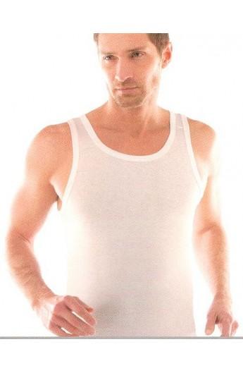 Canottiera invernale uomo 100% cotone felpato spalla larga LIABEL 2828