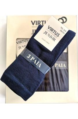 3 paia calze corte bambino/a in caldo cotone invernale V835