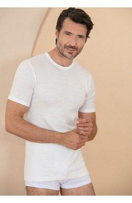 Maglia intima uomo misto lana fuori cotone sulla pelle Antonella 420001 Made in Italy