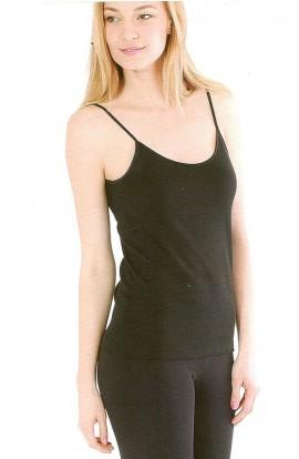 Canotta donna spalla stretta caldo cotone invernale profilo in raso Magal 41110