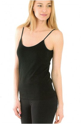 Canotta donna lana e seta spalla stretta qualità superiore Magal 61110