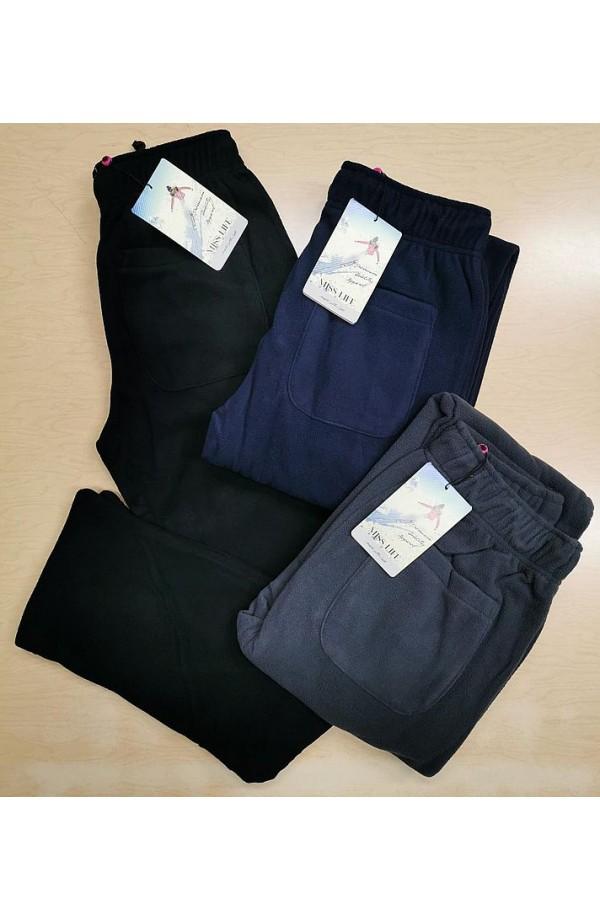 Pantalone donna in pile caldissimo isolante senza bordo 41514