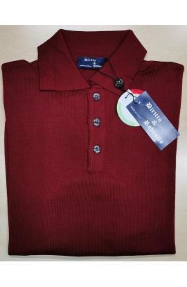 Maglia a Polo lana Merinos per uomo manica lunga invernale Made in Italy MS903
