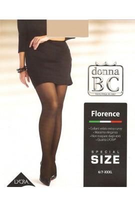 Collant super calibrato XXXL velato elegante tuttonudo BC Florence 40