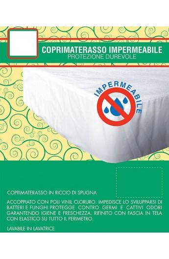 Coprimaterasso Impermeabile Una Piazza Cm 85x195 In Spugna Di Cotone Con Angoli Cop230