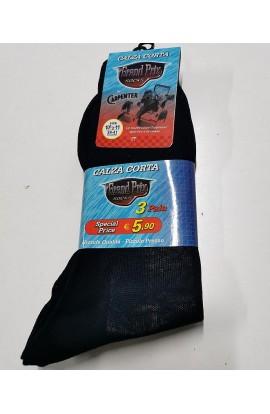 3 calze uomo cotone 100% gamba corta Carpenter Grand Prix