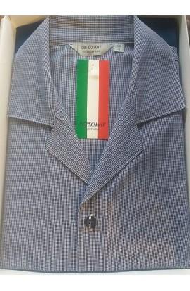 Pigiama aperto classico 100% cotone tessuto leggero elegantissimo Diplomat PUWO912