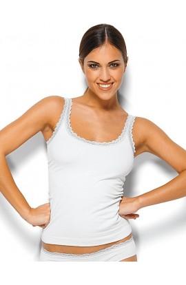 Canottiera spalla stretta Cotton Effect microfibra senza cuciture 210983