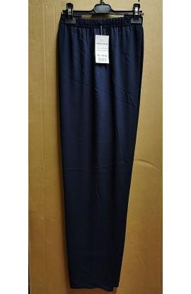 Pantalone donna estivo leggerissimi in viscosa dalla M alla XXXL colore blu Aertre 96-48