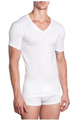3 T-shirt scollatura a V fruit mezza manica cotone 100% art. 084 3 pezzi