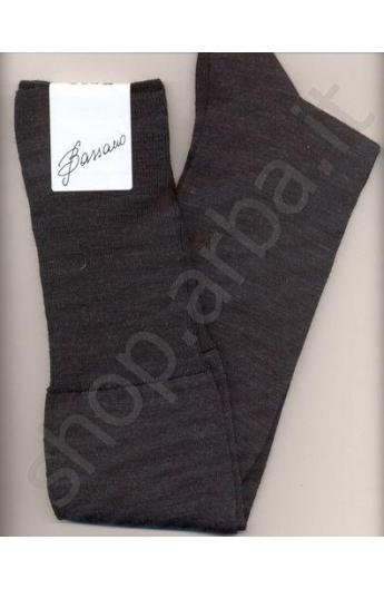 Calza lunga 90% lana per uomo elasticizzata per polpaccio grosso XXXL