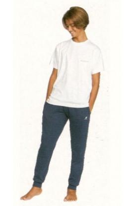 Pantalone tuta garzato ragazzo 10-12-14 anni primavera cotone Lotto LA1302